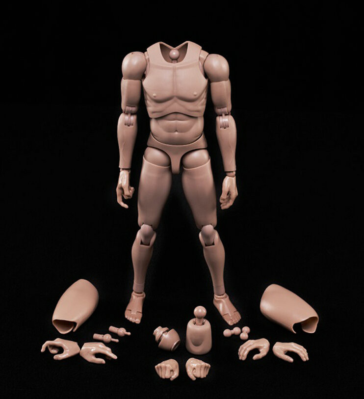 New 1/6 Action Figure Male Body Caucasian Skin MX02-A In Stock For 12