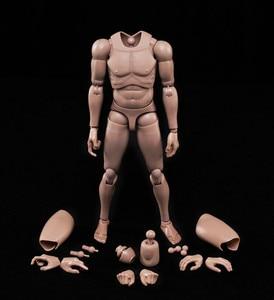 """Image 1 - جديد 1/6 عمل الشكل ذكر الجسم القوقاز الجلد MX02 A في الأوراق المالية لمدة 12 """"ألعاب الدمى عمل الشكل الجندي"""