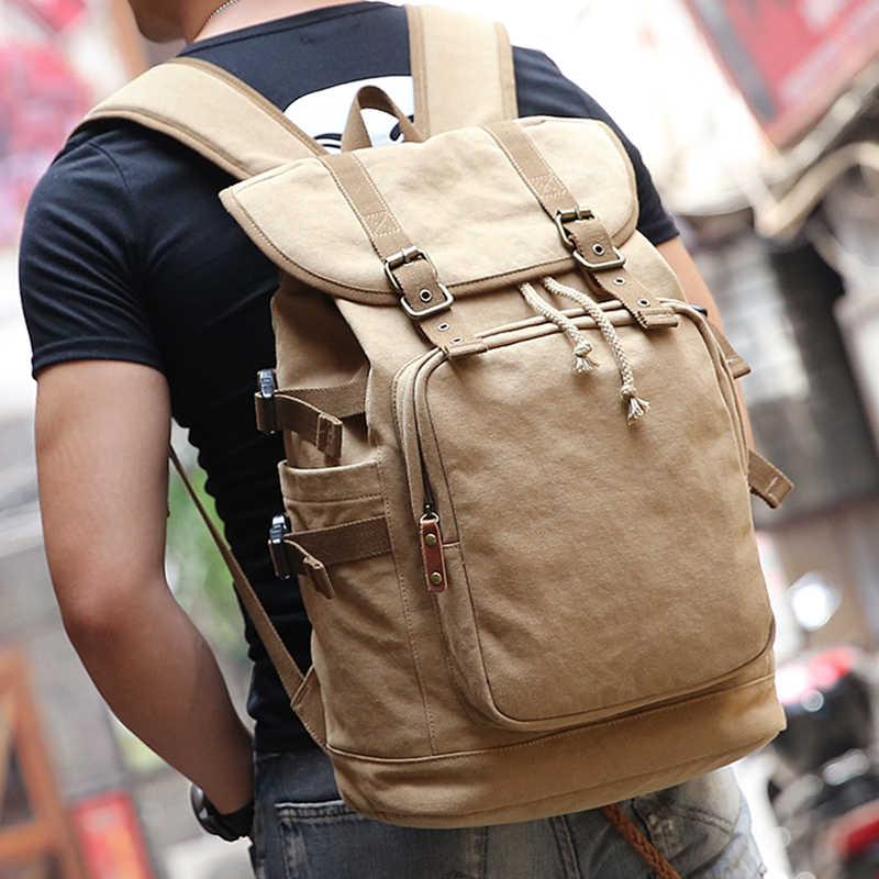 2019 Muzee новый холст высокой емкости рюкзак подходит для 14-15,6 дюймов ноутбук рюкзак бренд Muzee хаки Mochila