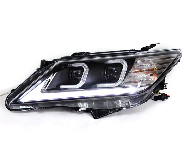 Free shipping Vland factory camry led headlight 2012 2013 2014  headlamp double C angel eyes design  led bar plug and play free shipping vland factory car parts for camry led taillight 2006 2007 2008 2011 plug and play car led taill lights