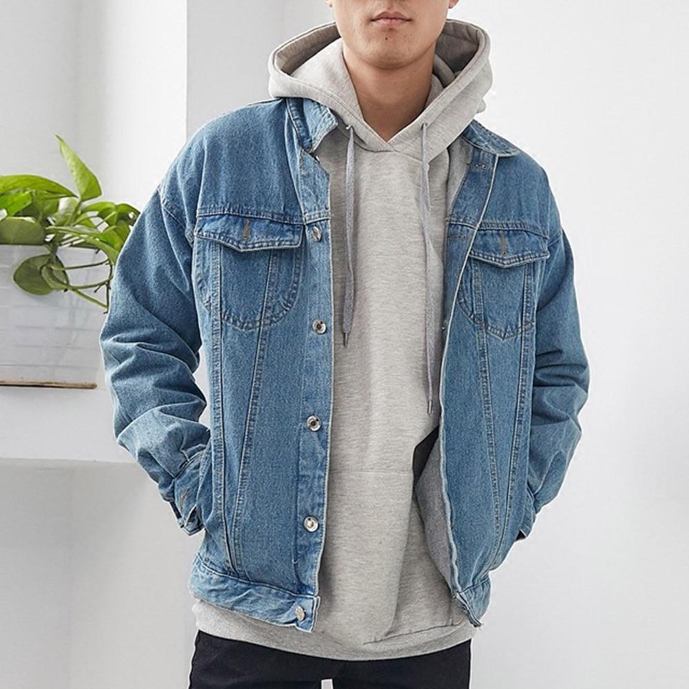 Cadenas moda Cardigan chaqueta de mezclilla de manga larga