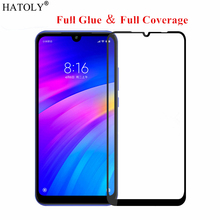 For Xiaomi Redmi 7 Glass Tempered for Film Full Glued Cover Screen Protector