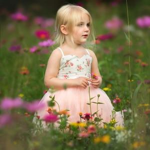 Image 4 - 4 Lagen Tule Grils Jurken Met Vintage Bloemen Leuke Zoete Zomer Party Bruiloft Speciale Occasi Prinses Voor Kid Kleding