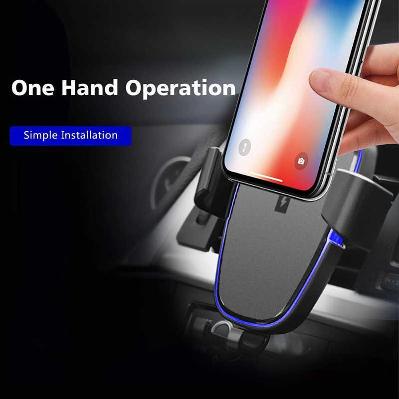 Автомобильное крепление Qi Беспроводное быстрое зарядное устройство для huawei Honor 9 Note 10 автомобильный мобильный телефон зарядный держатель Чехол Hoesje и беспроводной приемник