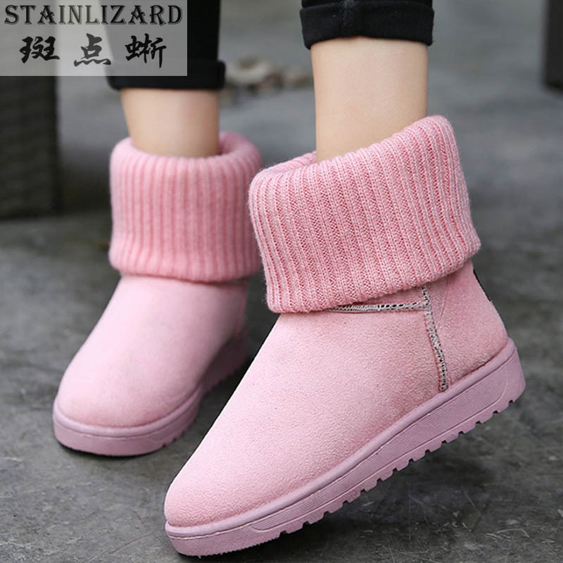 Ms. 2015 new winter women ladies warm snow boots wholesale fashion tide Korean version of casual cotton boots solid sweet DT589 ms autumn and winter snow boots warm comfortable wholesale women ladies casual shoes lace up martin boots popular dt548
