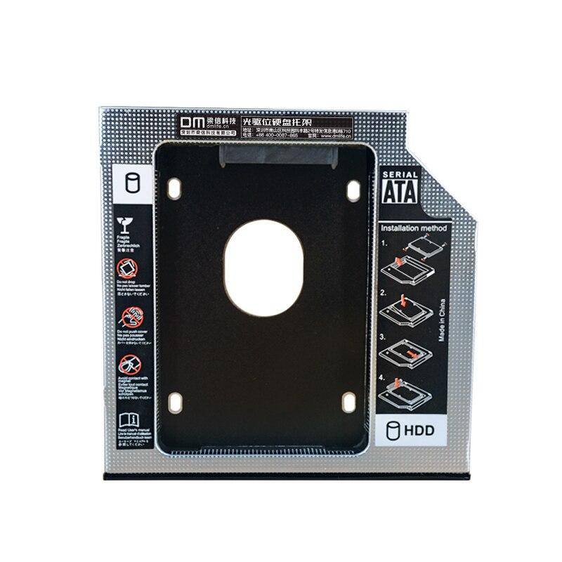 DM DW127S HDD Caddy 12.7mm Aluminum Optibay SATA 3.0 Hard Disk Drive Box Enclosure DVD Adapter 2.5 SSD 2TB For Laptop CD-ROM
