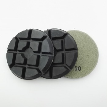 """DIATOOL 3 uds 100mm de diamante disco de lijado para suelos SA622 4 """"Unión de resina de diamante pulido de suelos almohadillas"""