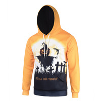 Halloween 3D Print Witches Hat Graphic Hoodies Yellow Color Wacky Pattern Sweatshirts Fashion Outerwear Tops Sudaderas Moletom