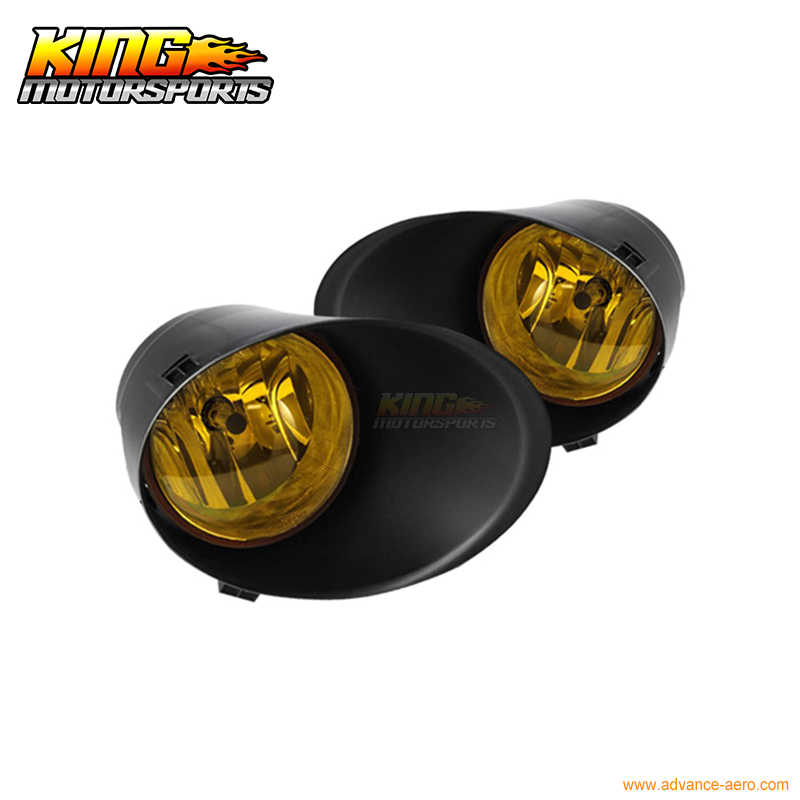 Fit For 2007-2013 Toyota Tundra OE Fog Lights Yellow Lens Full Kit Wiring Kit Included USA Domestic Free Shipping