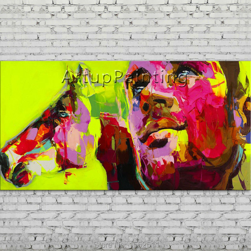Palette knife portrait Face Oil painting Character figure canva Hand painted Francoise Nielly wall Art picture 06-10-5Palette knife portrait Face Oil painting Character figure canva Hand painted Francoise Nielly wall Art picture 06-10-5