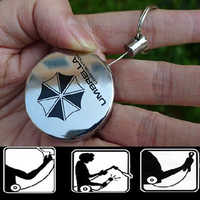 Retractable Pull Badge Reel Zinc Alloy Metal Silver ID Lanyard Name Tag Card Badge Holder Reels Recoll Belt Key Ring Chain Clips