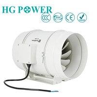 8 ''200 мм Высокопроизводительный встроенный воздуховод вытяжной вентилятор гидропонный воздуходувка для дома ванной вентиляция и парникова