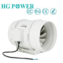 8'' 200mm High Performance Inline Duct Fan Exhaust Fan Hydroponic Air Blower for Home Bathroom Vent & Greenhouse Ventilation