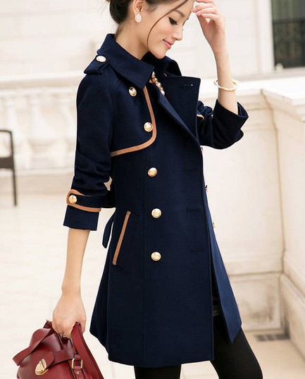 Women'S Wool Military Coat - JacketIn