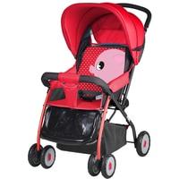 Cartoon Ultra Newborn Infant Baby Carriage Baby Stroller Lightweight Four Wheels Trolley Can Sit Lie Footrest Bottom Basket