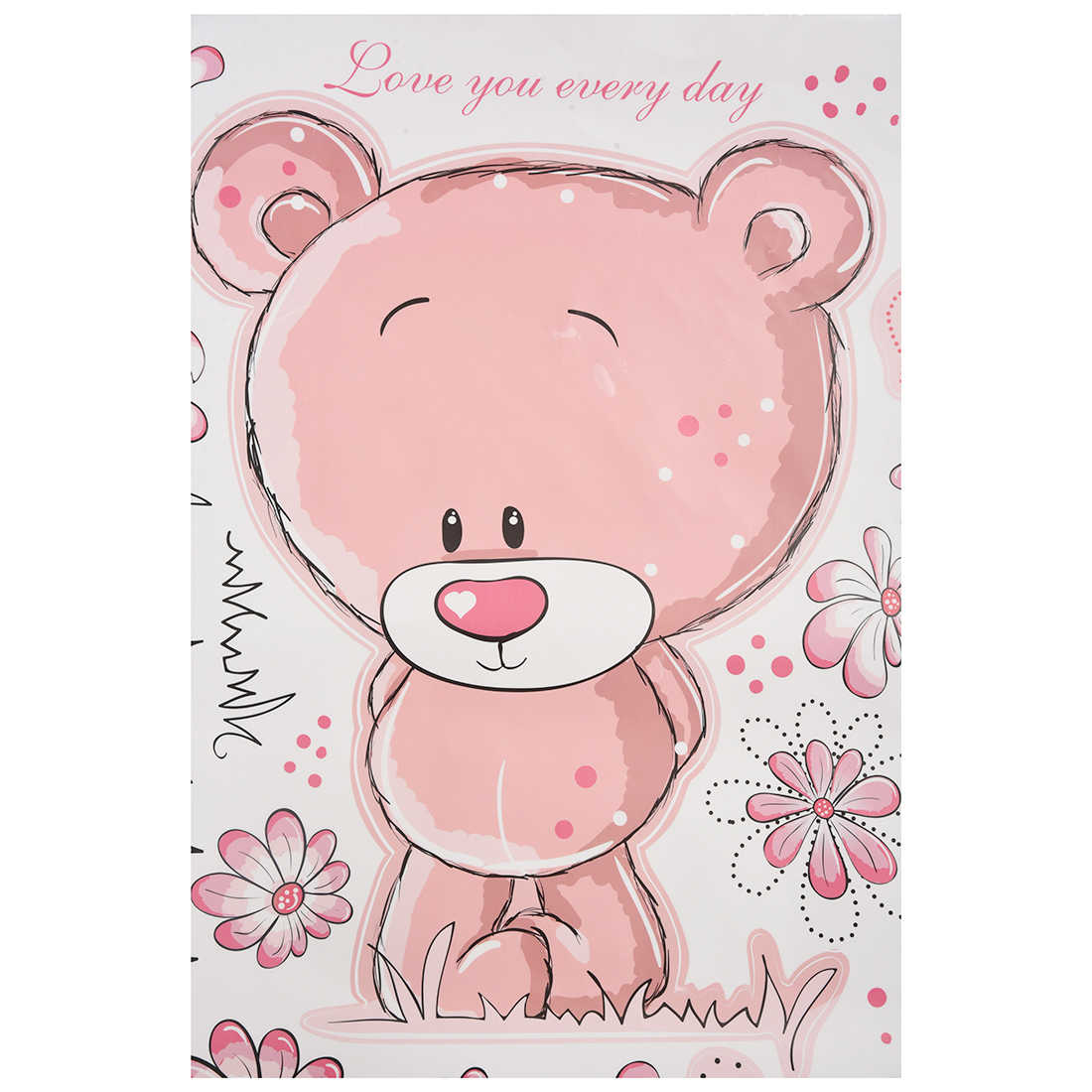 Detail Feedback Questions About Pink Bear Wallpaper For Bedroom Wall