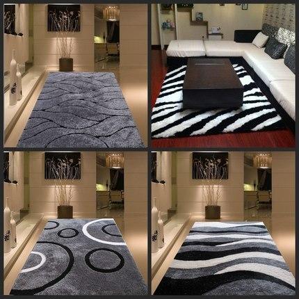 Chiffré épaississement lumineux soie salon table basse chambre chevet tapis simple moderne style nordique motif tapis