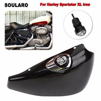 For Harley Sportster XL Iron 883 1200 48 72 2004 2013 Right Oil Tank Side Battery Cover Skull and ghosts Oil Dip Stick Filler
