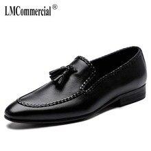 High Quality Genuine Leather British leisure black business wedding mens shoes cowhide mens shoes formal Men Dress Shoes цена 2017