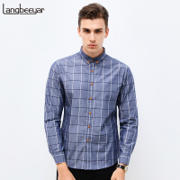 2017 Spring New Fashion Brand Clothing Mens Shirt Classic Plaid Shirt Slim Fit High Quality Casual