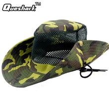 2813cfbc2bfe4 Summer Camouflage Denim Unisex Fishng Hat Outdoor Hunting Hiking Bucket Caps  Men Women Camo Fisherman Flat Sun Berets Hat