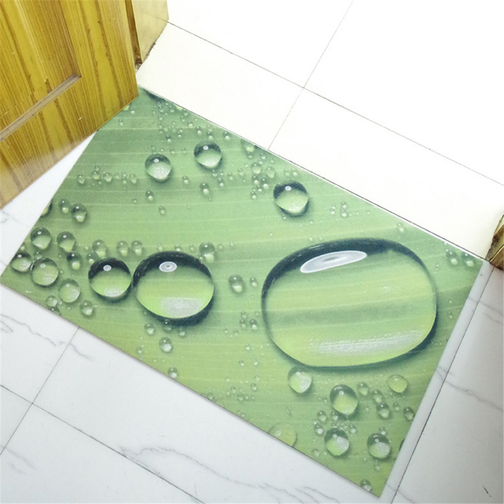 Cute Drops Footprint Anti Slip Carpets font b Floor b font Mats Bathroom font b Kitchen