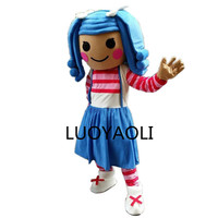 New 2014 Lalaloopsy Mascot Costume Adult Size Cartoon Halloween Mascot costume Party Fancy Dress Outfit