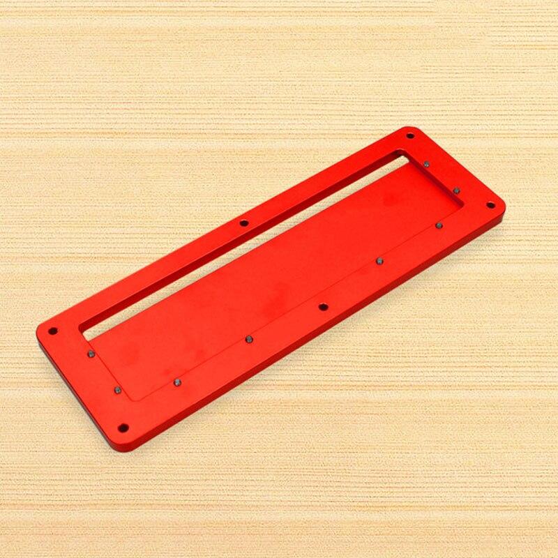 Aluminum Circular Saw Throat Plate Flip DIY Woodworking Table Cover Plate LO88Aluminum Circular Saw Throat Plate Flip DIY Woodworking Table Cover Plate LO88