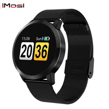 Q8 Smart Watch OLED Color Screen blood pressure Smartwatch women Fashion Fitness Tracker Heart Rate monitor цены