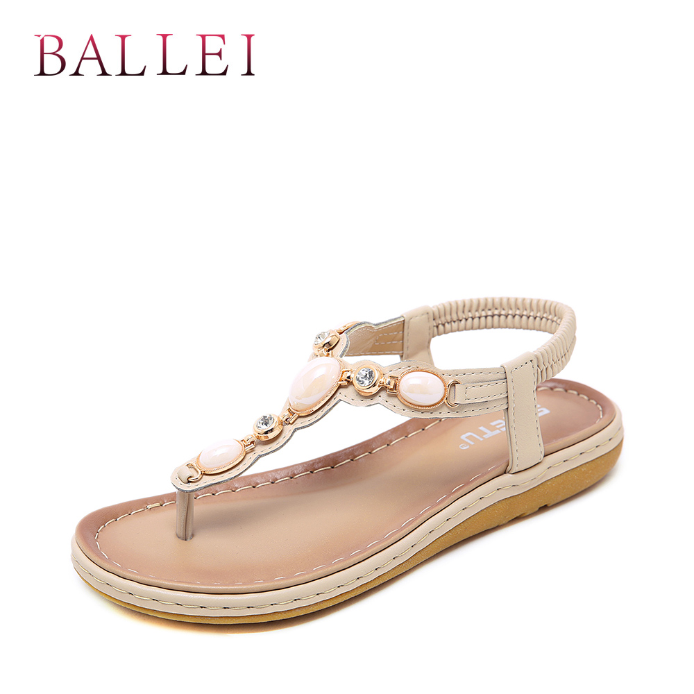 Balle High Quality Woman Sandals Vintage Genuine Leather Comfortable Low Heel Shoes Elegant Lady Ethnic Retro Casual Sandals S71 Women's Shoes