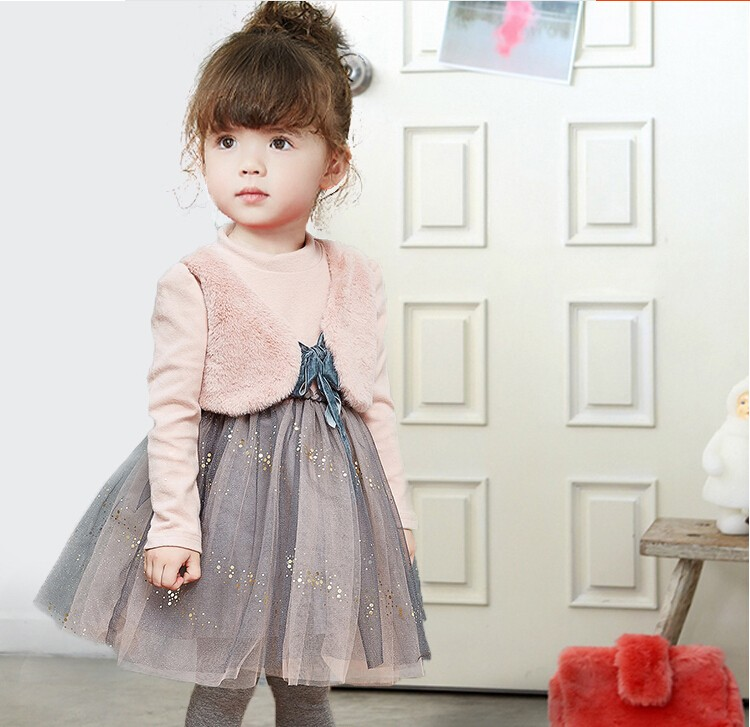 0aa02d9ba7a2 Girls children clothing winter dresses clothes child two more small ...
