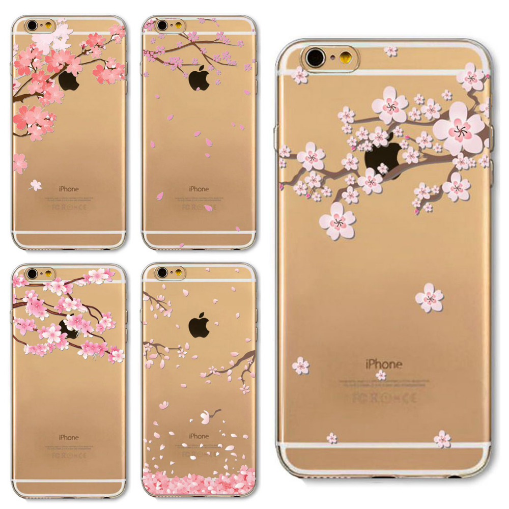 Teléfono case para iphone 4 4s 5 5s se 6 6 s 6 más 6 splus case tpu suave borrar