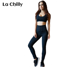 Workout Clothes for Women Summer New Fashion Long Jumpsuit Lace Up Bust and Waist Fitness Jumpsuit Barboteuses Femmes Salopette