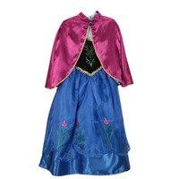 Yeni Prenses Bebek Kız Giysileri Anna Bez Elsa Vestidos Bebekler Çocuk Kızlar Anna Cosplay Parti Çocuklar Için Elbiseler Doğum Günü