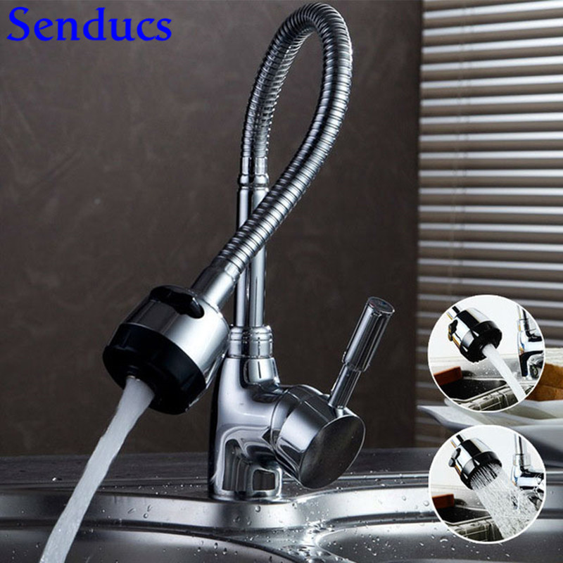 Senducs Kitchen Faucet Universal Tube Kitchen Sink Faucet With Quality Zinc Alloy Kitchen Faucet Hot Cold Kitchen Sink Mixer Tap senducs kitchen faucet three way kitchen sink mixer tap of quality brass spring kitchen sink faucet hot cold kitchen water tap