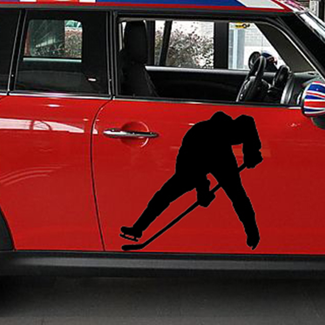 50cm x 50cm ice hockey player sports car sticker for cars door side truck window rear