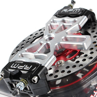 Мотоцикл скутер Мотоцикл Байк 2 тормозные Штангенциркули адаптер/кронштейн для задний плоский Вилы Тормозные системы для Honda Yamaha