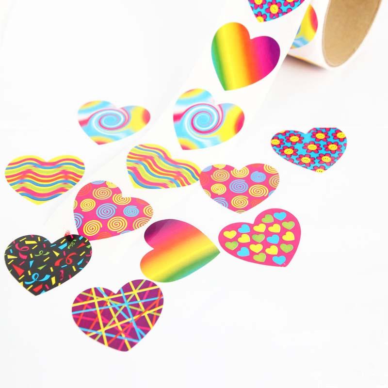 100pcs/1 roll reward stickers roll kids sticker scrapbooking star 3D cartoon characters funny Toys for Children 2