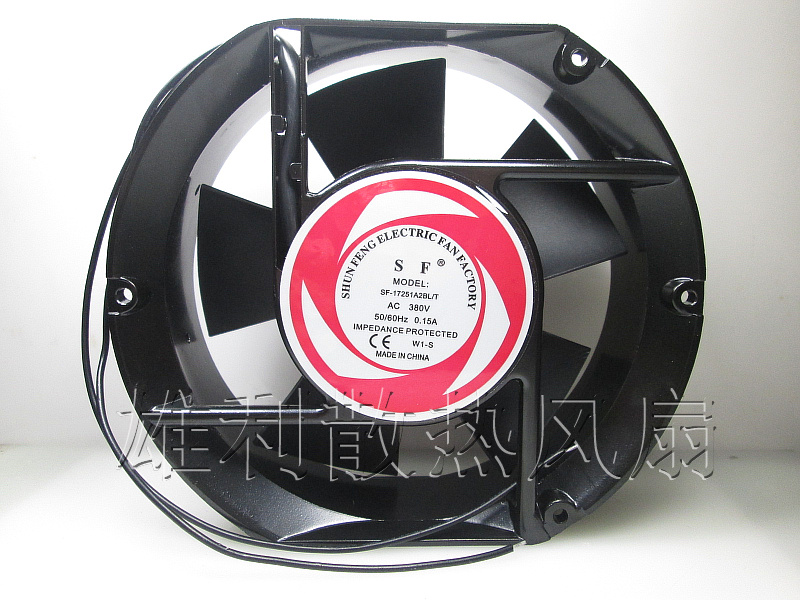 Free Delivery. High quality double ball AC cooling fan AC 380V 17250 Axial fan 170 * 170 * 50MM free delivery high quality dc 12 v switching high current car fan gm stepless speed regulator the biggest support 5 a