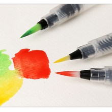 1Pc Refillable Painting brush Watercolor brush Water Tank Calligraphy Brush art marker pen water color