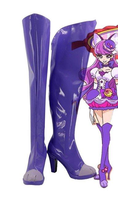 KiraKira Pretty Cure A La Mode Cure Macaron Kotozume Yukari Cosplay Shoes Boots Custom Made