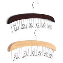 Hot Sale 12 Hardwood Belt Tie Clost Clothing Accessory Hanger Hardwood Belt Organizer Hanging Hanging