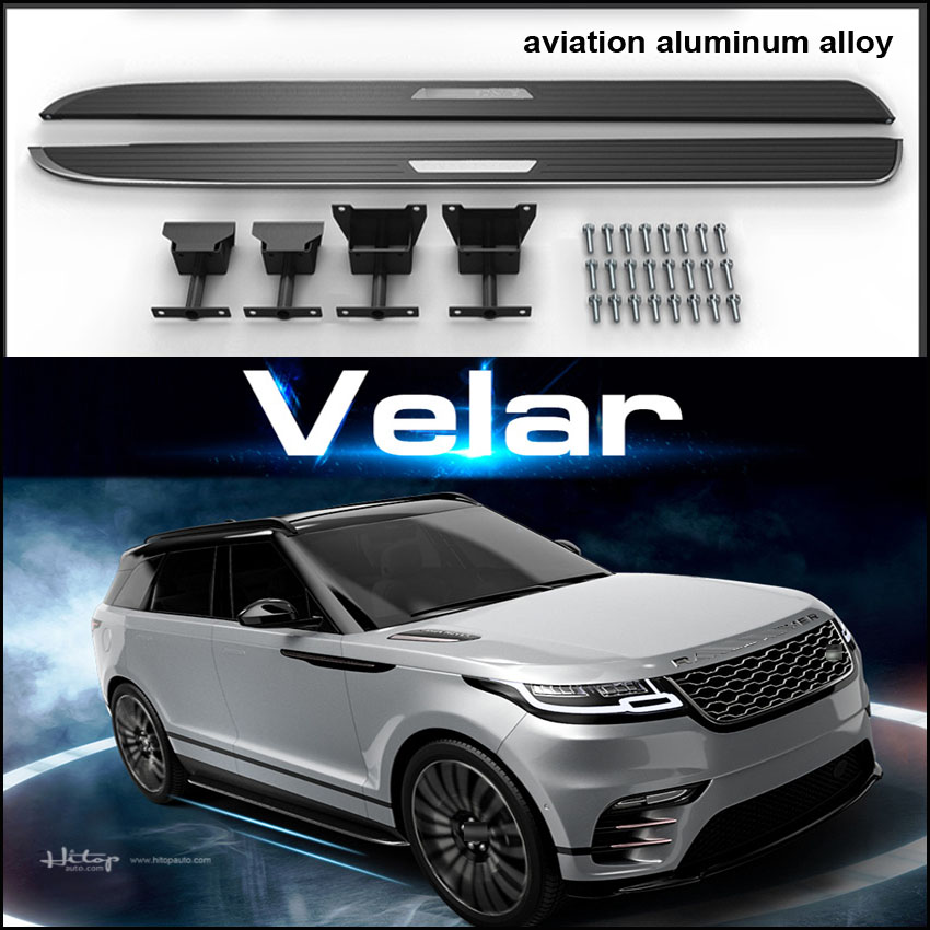 New arrival running board side step side bar pedal for Range Rover Velar 2017-2018.reliable quality,free shipping to Asian.