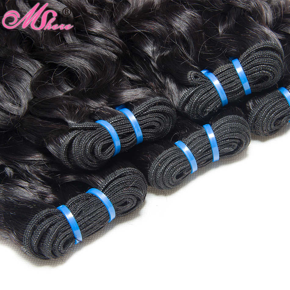 Pre Plucked 360 Lace Frontal With Bundle Natural Color Brazilian Water Wave 100% Human Hair 3 Bundles with Closure Non remy Hair