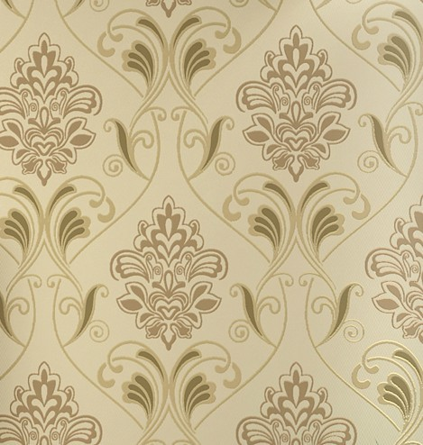 Classic Damask Flocked Velvet Wallpaper 4 Colours velvet flocked