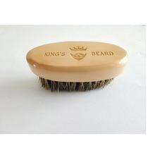 Мужская портативная мини-щетка для бритья, щетина кабана, щетка для бороды, усы, уход за бородой, гравировка логотипа 8x4 см