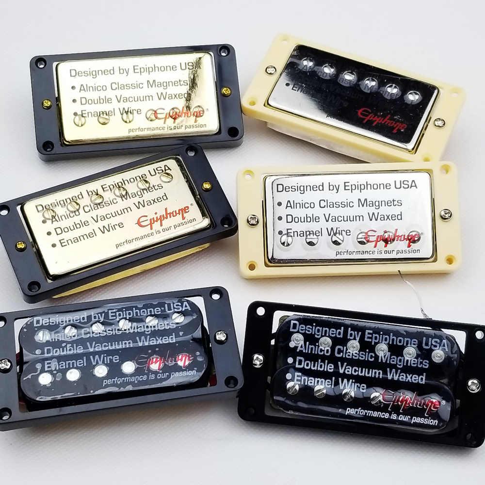 1 Set orijinal hakiki Epi LP standart SG elektro gitar Alnico Bar Humbucker manyetikler nikel gümüş altın siyah çin'de yapılan kore