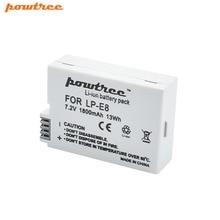 Powtree для Canon 1×7,2 В 1800 мАч LP-E8 LP E8 LPE8 DSLR цифровой Камера Батарея Замена EOS 600D 650D 550D 700D T4i T5i Rebel
