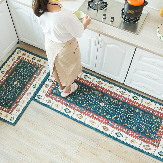 Bathroom Rugs That Absorb Water.Oriental Printed Kitchen Mat Home Entrance Doormat Anti Slip