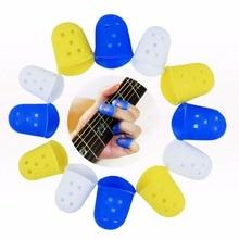 2pcs/lot Guitar Thumb Bass Silicone Finger Picks Protector Plectrum Bands, 3 Colors Size S/M/L